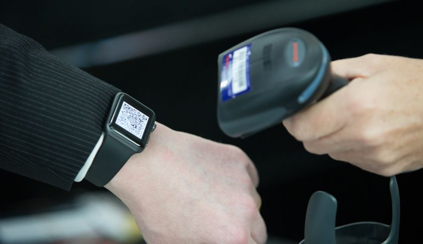Apple Watch / Smartphone Scanner for Boarding Passes Taken: 27th November 2015 at Heathrow Terminal 5 British Airways Picture by: Stuart Bailey / British Airways